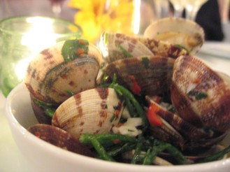 Clams with Samphire