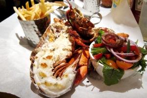 Grilled Lobster, Chips & Salad