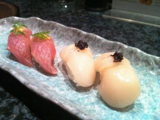 Scallop & Black Truffle Nigiri @ Sushi of Shiori