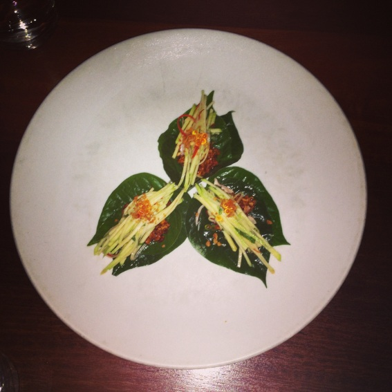 Betel Leaf with Trout
