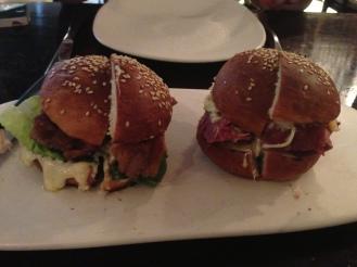 Confit pork belly roll and Reuben roll ($12 each)