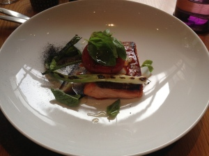 Ocean Trout, crisp skin, bella rossa peppers in ash $42