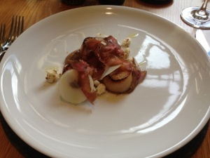 Sea scallops, roasted cauliflower butter, biltong $32