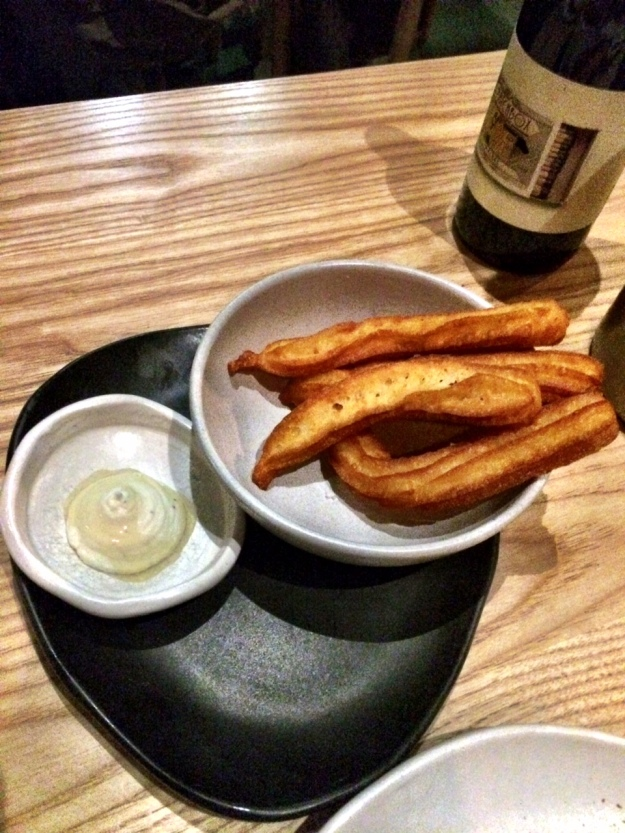 Goat Cheese Churros with Truffle Honey