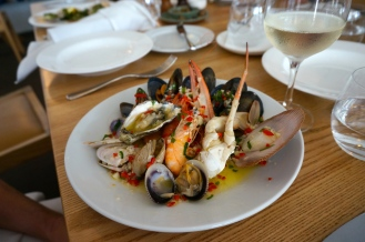 Warm Fruits de Mer - Shellfish with garlic, chilli, butter, lemon & parsely