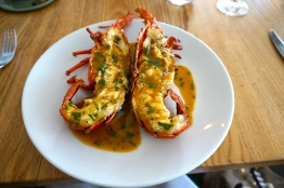 Grilled Local Rock Lobster with taragon, chervil
