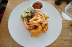 Prawn Fritters with Rick's Tomato Chutney