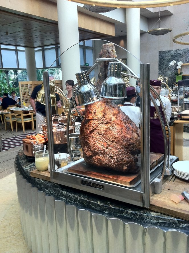 Brontosauras/Beef at the Ritz Carlton Sunday Brunch Buffet